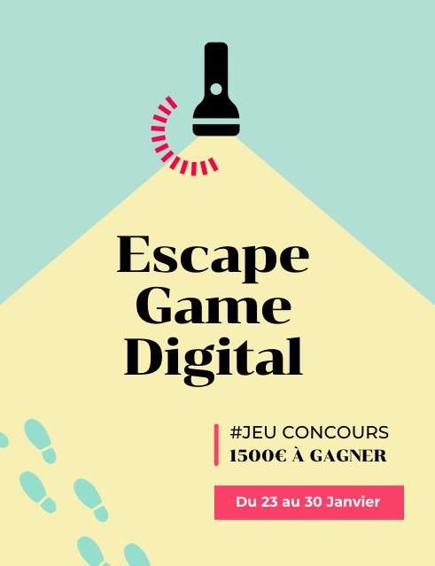 Escape Game Digital - 1500€ à gagner du 23 au 30 Janvier